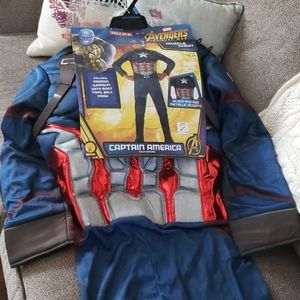 Captain America muscle chest Halloween costume